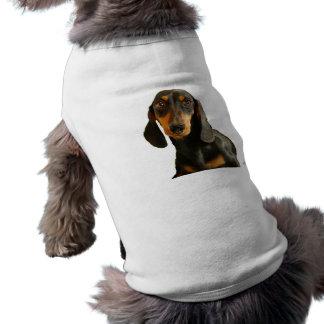 Cute Dachshund ( Miniature Brown Short Haired ) Sleeveless Dog Shirt