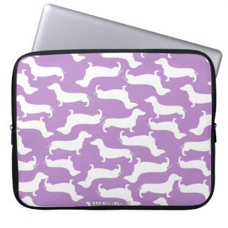 Cute Dachshund Pattern Perfect Gift for Doxie Love Laptop Sleeve