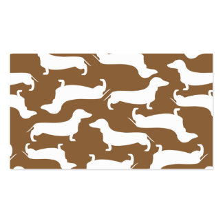 Cute Dachshund Pattern Perfect Gift for Doxie Love Pack Of Standard Business Cards
