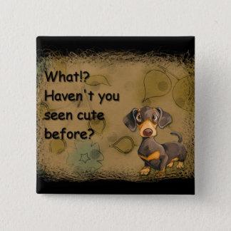 cute dachshund square button