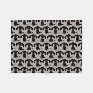 Cute Dachshunds Pattern Fleece Blanket