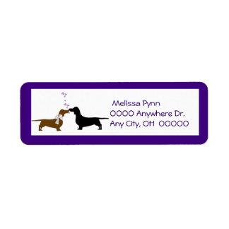 Cute Dachshunds Return Address Label