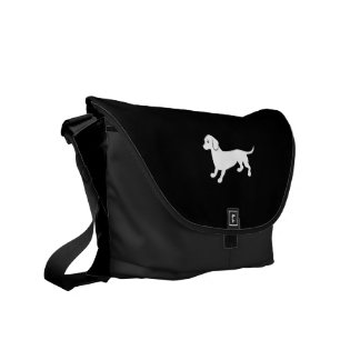 Cute Dachsund Drawing Messenger Bags