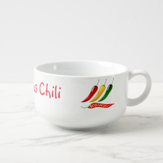 "Cute ""Dad's Famous Chili"" with Hot Peppers Soup Mug"