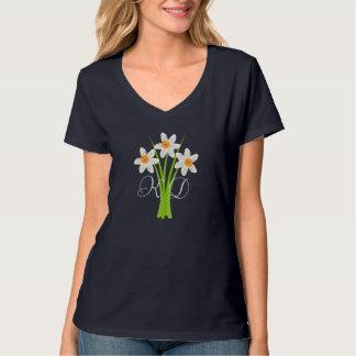 Cute Daffodils Fan Floral Custom T-shirt