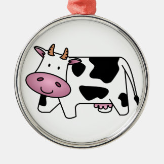 Cute Dairy Cow Christmas Ornament