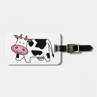 Cute Dairy Cow Luggage Tag