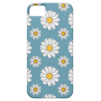 Cute Daisies and Flowers White and Blue iPhone 5 Case