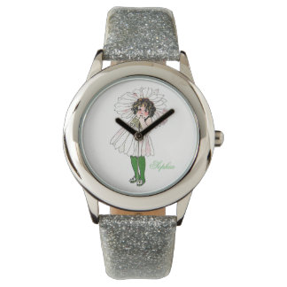 Cute Daisy Flower Child Floral Funny Little Girl Watch