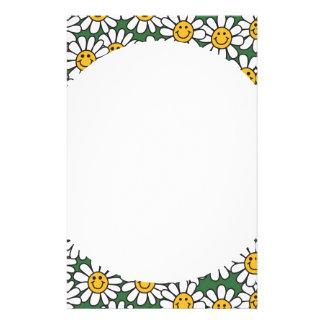 Cute Daisy Flower Pattern Stationery