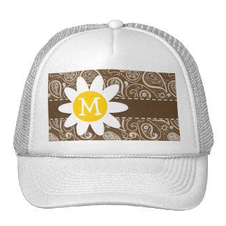 Cute Daisy on Brown Paisley Trucker Hat