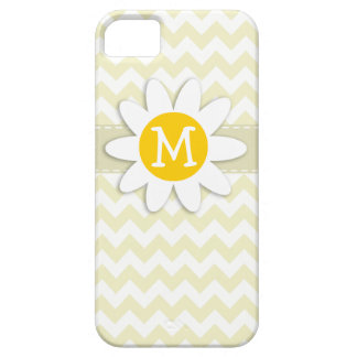 Cute Daisy on Cream Chevron; zig zag iPhone 5 Case