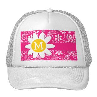Cute Daisy on Deep Pink Paisley Trucker Hat