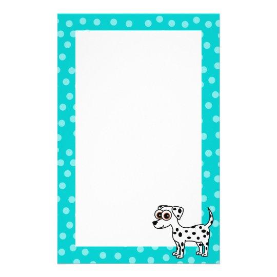 Cute Dalmatian Cartoon Spotted Stationery