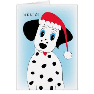 Cute Dalmatian Dog Christmas Card