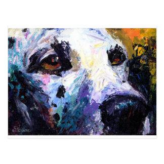 Cute Dalmatian Dog Portrait Postcard