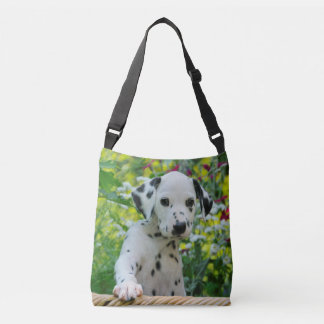Cute Dalmatian Dog Puppy Portrait Photo - on Crossbody Bag