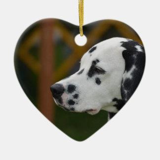 Cute Dalmatian Puppy Ceramic Heart Decoration