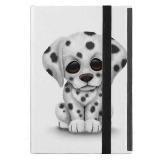 Cute Dalmatian Puppy Dog on White iPad Mini Covers
