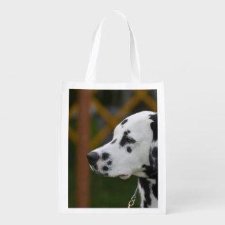 Cute Dalmatian Puppy Reusable Grocery Bag