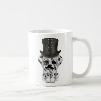 Cute Dalmatian Puppy with Monocle and Top Hat Coffee Mug
