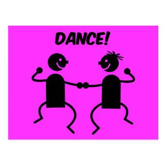 Cute dance postcard