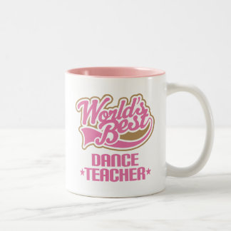 Cute Dance Teacher Two-Tone Coffee Mug