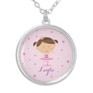 Cute Dancer Ballerina Girl Necklace