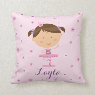 Cute Dancer Ballerina Girl Pillow