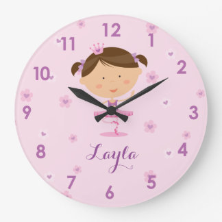 Cute Dancer Ballerina Girl Wall Clock