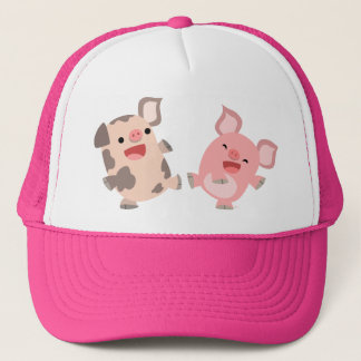 Cute Dancing Cartoon Pigs Hat