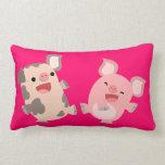 Cute Dancing Cartoon Pigs Pillow
