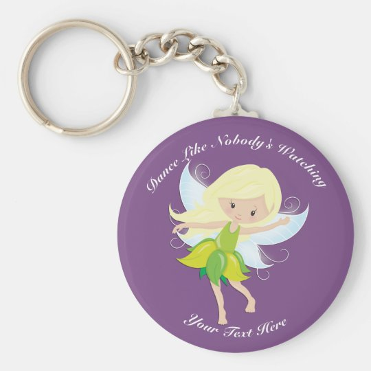 Cute Dancing Fairy Nymph Personalised Key Ring