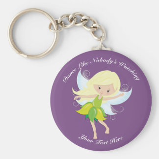 Cute Dancing Fairy Nymph Personalized Key Ring