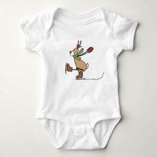 Cute Dancing Reindeer - Christmas Baby Bodysuit