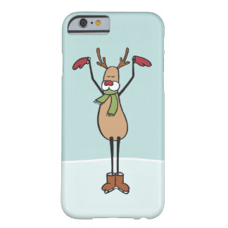 Cute Dancing Reindeer - Christmas Barely There iPhone 6 Case
