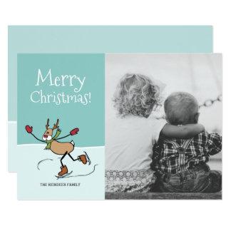 Cute Dancing Reindeer - Christmas Card