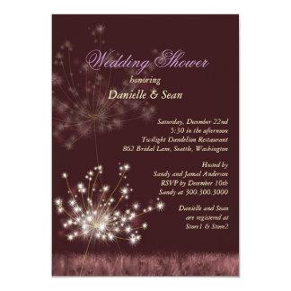 Cute Dandelions Modern Bridal Shower Card