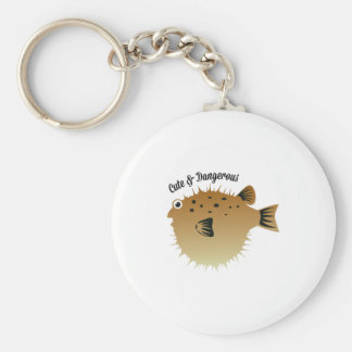 Cute & Dangerous Basic Round Button Key Ring