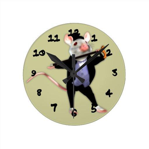 Cute Dapper Mouse, the Dancing Cartoon Mouse Clocks