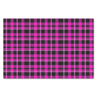 Cute Dark Pink & Black Plaid/Tartan Tissue Paper