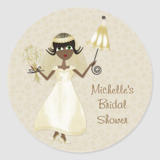 Cute Dark-skinned Bride Sticker