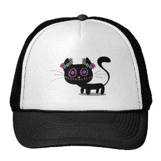 Cute Day Of The Dead Cat Cap