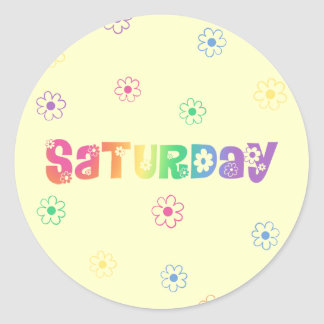 Cute Day Of The Week Saturday Sticker