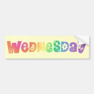 Cute Day Of The Week Wednesday Bumper Sticker