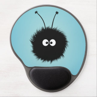 Cute Dazzled Bug Blue Ergonomic Gel Mouse Pad