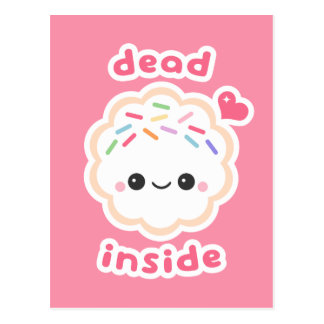 Cute Dead Inside Cookie Postcard