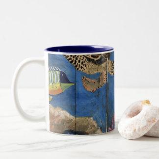 Cute Debajo Del Agua Driftwood Painting Coffee Mug