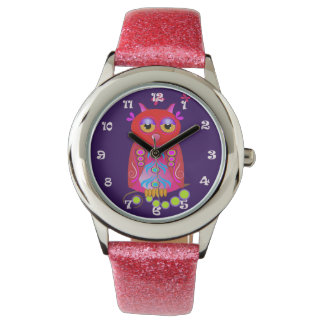 Cute, decorative Owl & Clock numbers watch