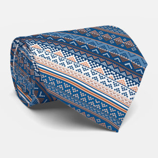 Cute decorative ukrainian pattern design tie